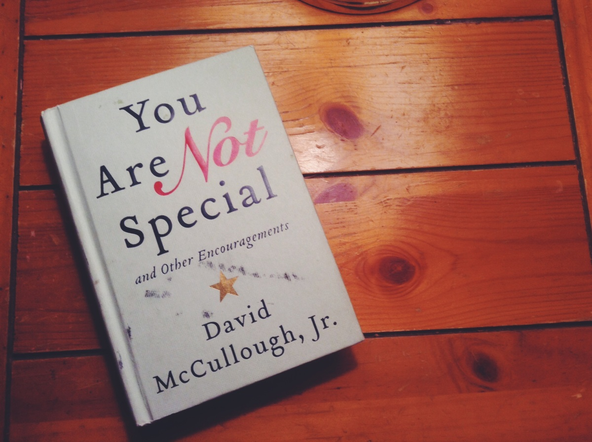 Book: You are NotSpecial
